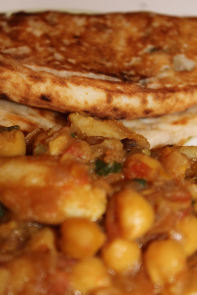 Indian bread with Channa Masala