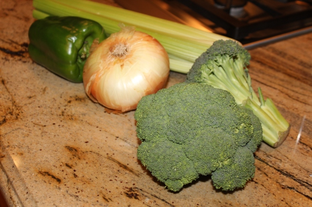 Veggies for cream of broccoli soup