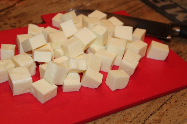Cube the paneer