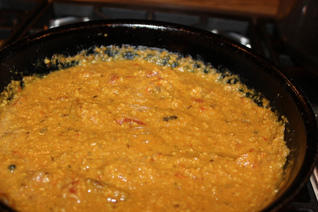 Doctored gravy: add tomatoes, turmeric and spices