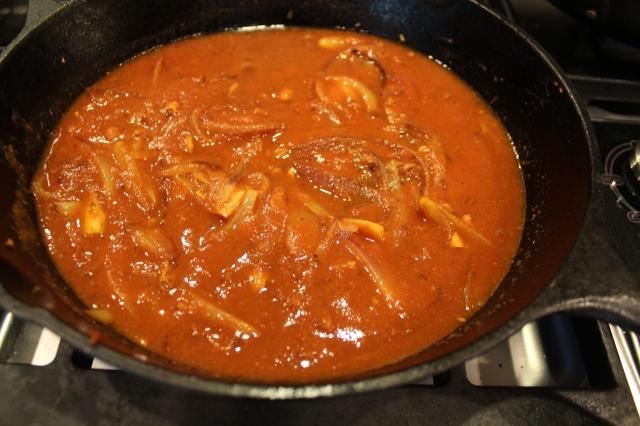 Add a cup of tomato puree