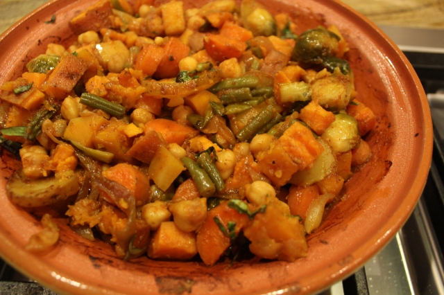 Bake for an hour until the aroma is heavenly and the vegetables are fork tender