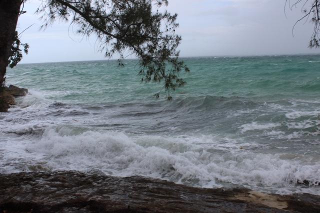 Stormy seas off Nassau Island