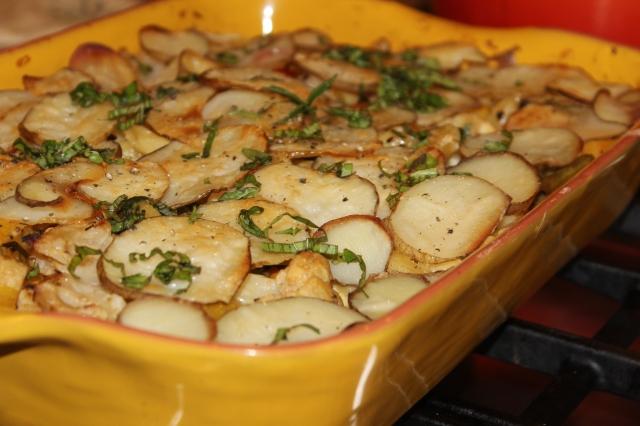 Pasta and potato casserole