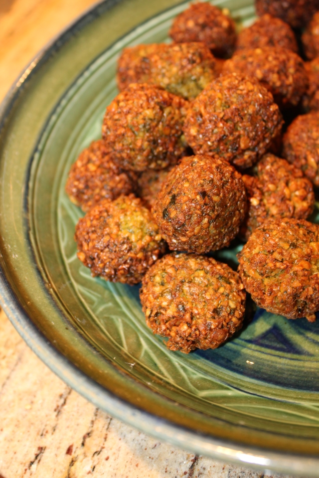 Falafels, made with chickpeas, Israeli style